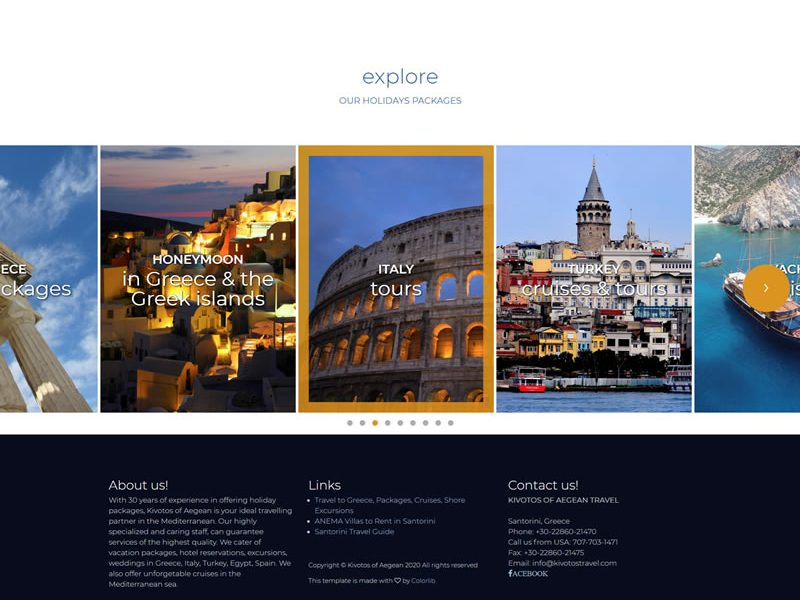 Greek Hotels Landing Page