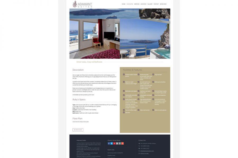 Luxurious suites in Santorini