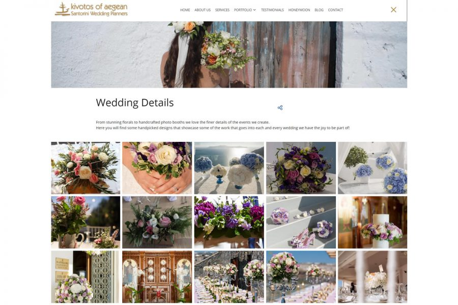 Kivotos of Aegean Santorini exclusive wedding planners